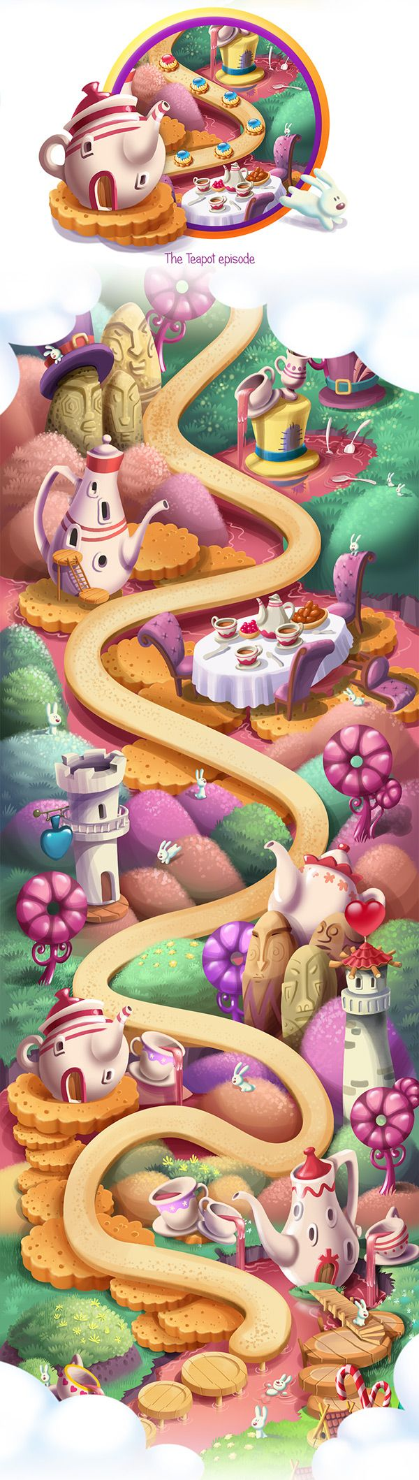 Make a journey to a magical Candy Land cramfull with gingerbread houses and trees of sweet cotton wool with the young and enchanting brother and sister. Help main characters, to feed poor kids by collecting bits of sweets in a wonderful Match 3!