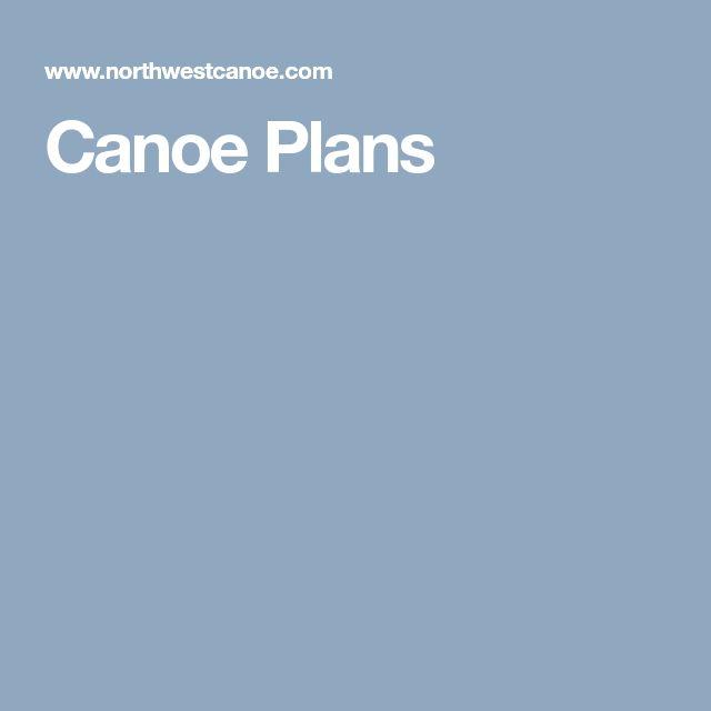 Canoe Plans