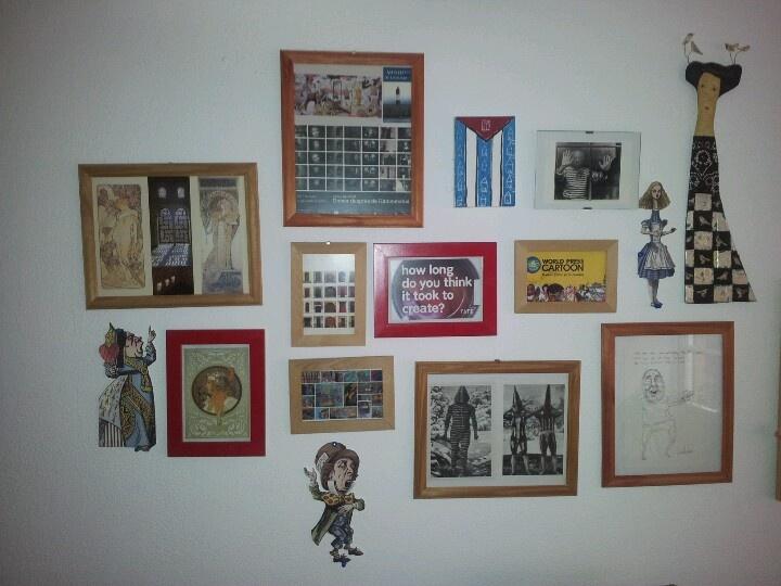 My studio wall.