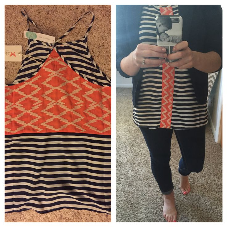 Wow....I LOVE my 4th Fix!!!! This is one of my fav shirts ever. I had to do a front & back view. I love my stylist, Jen. Get your own stylist at Stitch Fix. Click here if interested https://www.stitchfix.com/referral/4665678  #stitchfix #fashion #style #fun