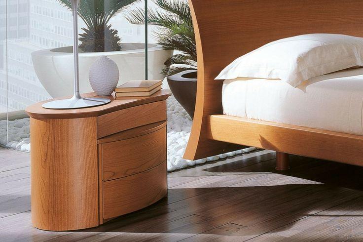 Camera da letto moderna in ciliegio 51 - comodino Diva | Napol.it
