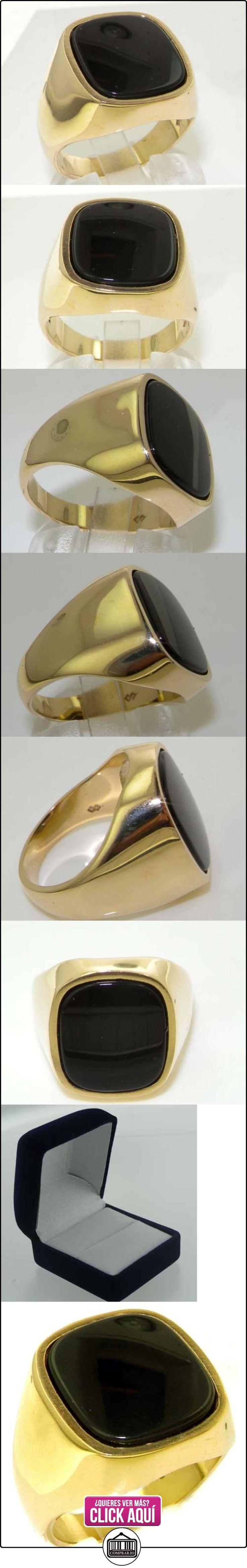 Anillo de Hombre de Oro amarillo 9K (375) con Ónice 3 quilates - Talla 25 - Otros Tallas disponibles  ✿ Joyas para hombres especiales - lujo ✿ ▬► Ver oferta: http://comprar.io/goto/B00GXEHISO