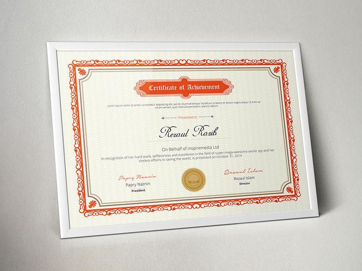 ... Las 25+ Mejores Ideas Sobre Modèle Diplome Word En Pinterest   Creative  Certificate Designs ...  Creative Certificate Designs