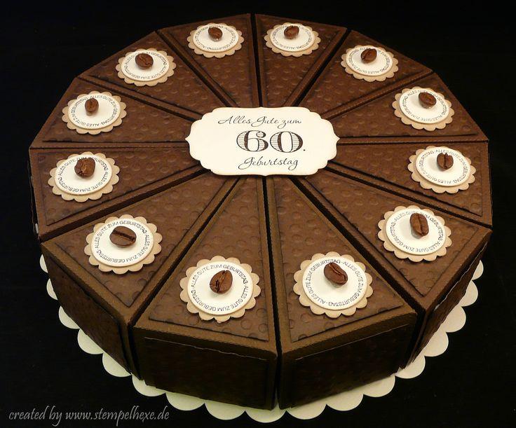 Torte Papier Schokolade Kaffee Stampin Up Stempelhexe
