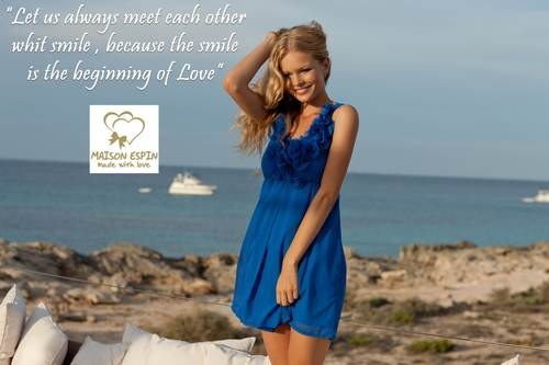 Maison Espin blu dress ss13, #maisonespin #springsummercollection13 #womancollection #dress #lovely #MadewithLove #romanticstyle #milano #blu
