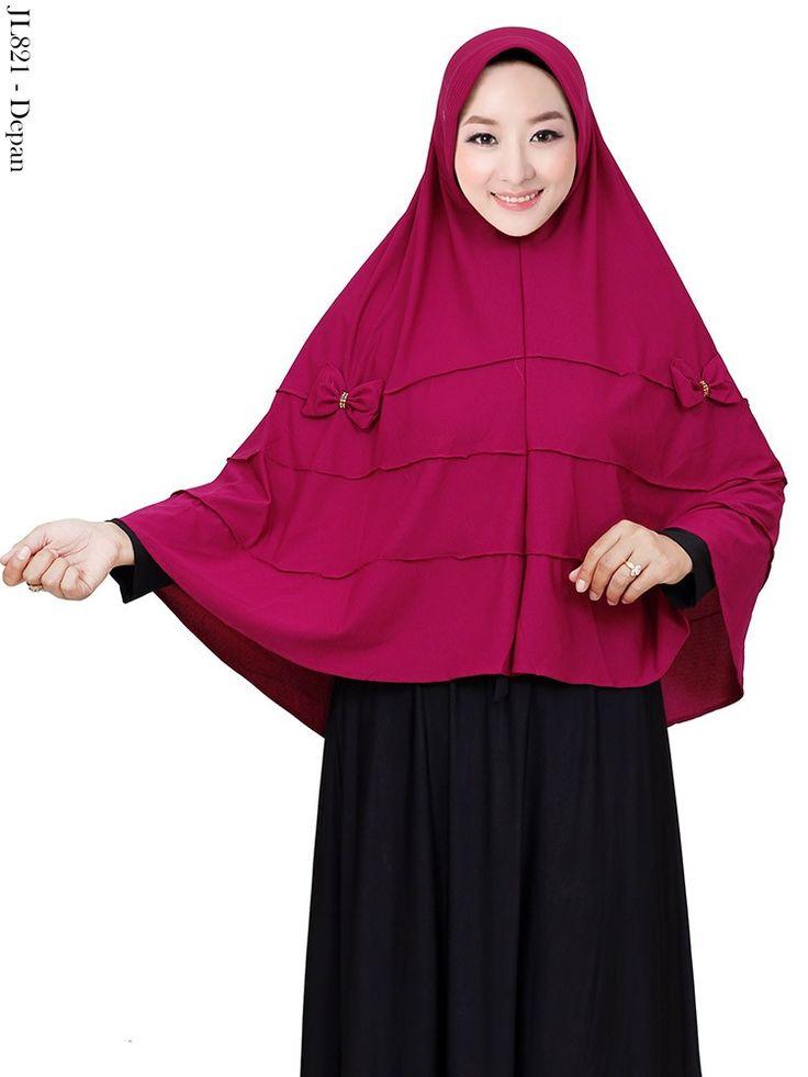 Jilbab Jersey Polos Syar'i Cubit Pet Antem Hias Pita Murah