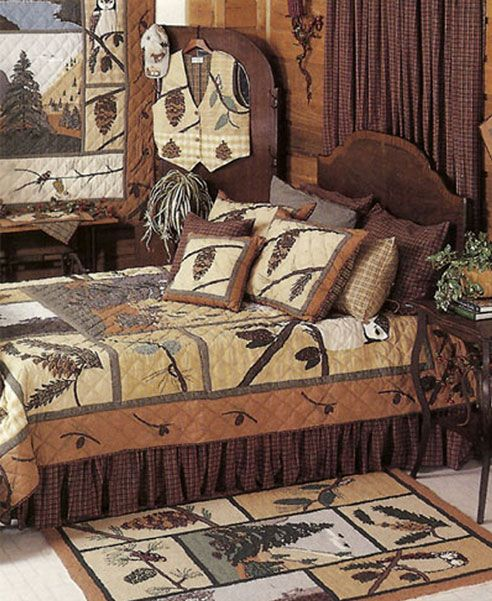 Cabin bear rustic bedding set quality rustic decor autos for Rustic bear home decor