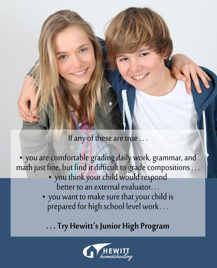 If any of these are true for you and your student... Try our Junior High Program.