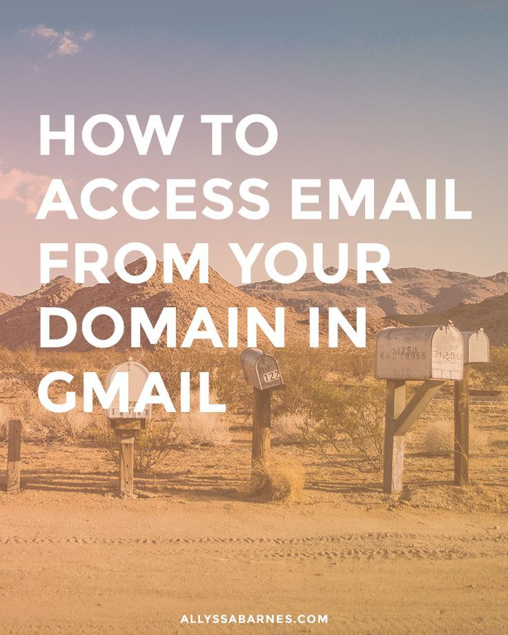 how to create an email from your doman
