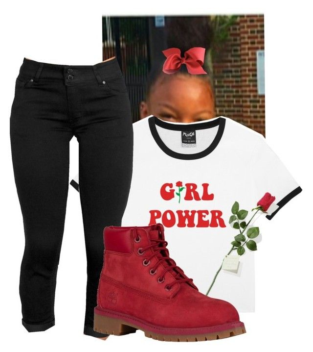 """""""Sunday.. Shooting my individual part in the song"""" by illestqveen on Polyvore featuring Wax Jean, Hanky Panky and Timberland"""