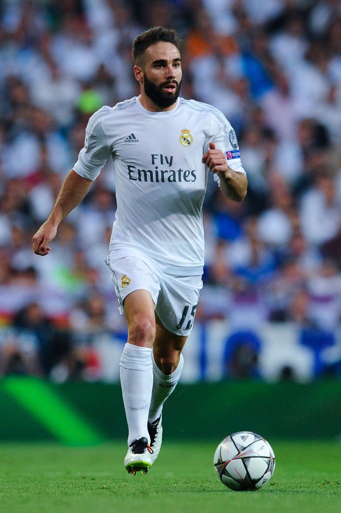 Daniel Carvajal of Real Madrid CF runs with the ball during the UEFA Champions League Semi Final second leg match between Real Madrid and Manchester City FC at Estadio Santiago Bernabeu on May 4, 2016 in Madrid, Spain. (May 3, 2016 - Source: David Ramos/Getty Images Europe)