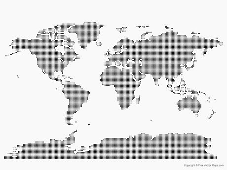 Vector Map of World - Dots