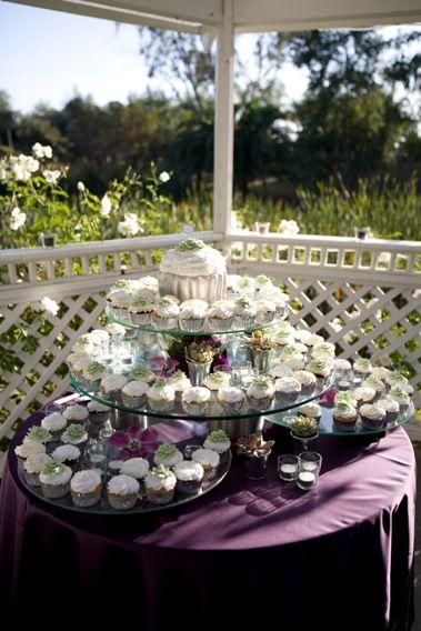 Wedding cupcake display  Paradise Falls Tropical Estate Weddings Get married in Oceanside, San Diego, California! http://www.visitoceanside.org/weddings/