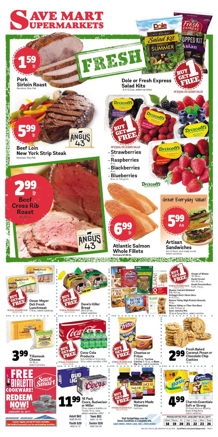 Save Mart Weekly ad January 18 - 24, 2017 - http://www.olcatalog.com/save-mart/save-mart-weekly-ad.html