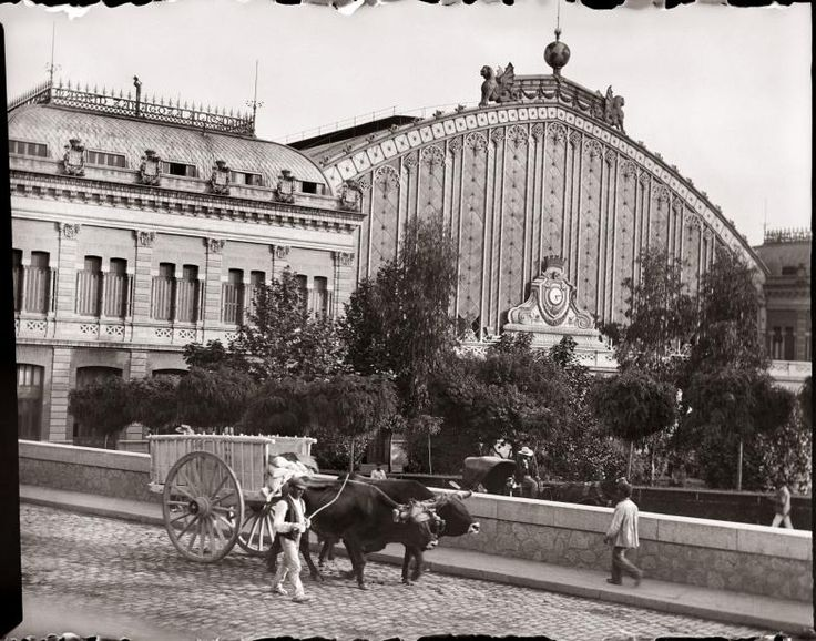 Estación de Atocha, vista exterior Diego González Ragel Madrid, c. 1920