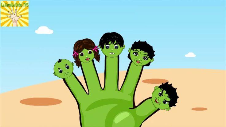 Hulk Dedo De La Familia Canciones De Cuna Por Los Personajes