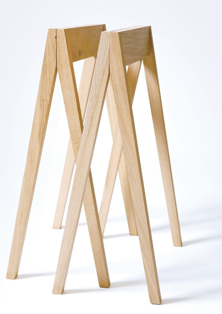 Les 25 meilleures id es concernant tr teaux sur pinterest for Bureau en bois brut