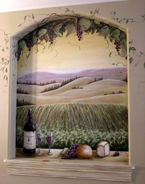Rustic Tuscany Paint Wine Wine And Cheese On Window Sill Overlooking California Vineyard