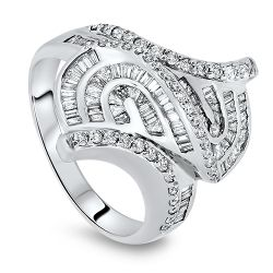 0.61cts Patterned Diamond Ring