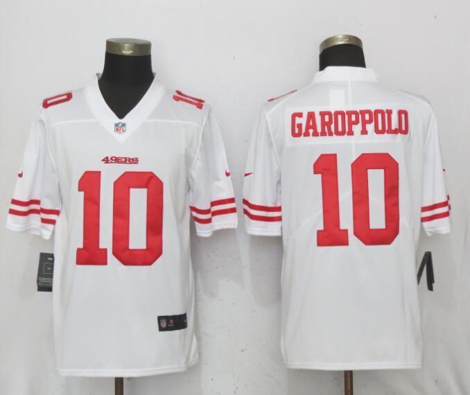 f0f5830bf Men San Francisco 49ers 10 Garoppolo White Vapor Untouchable Limited Nike NFL  Jerseys