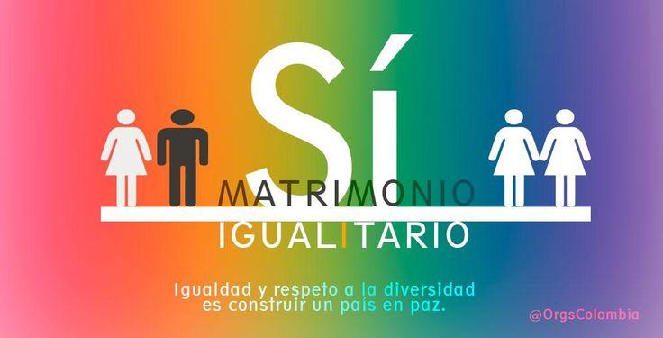 Igualdad y respeto a la diversidad es construir un país en paz. #MatrimonioIgualitario