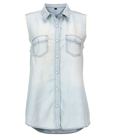 Gina Tricot -Dylan sleeveless jeans shirt