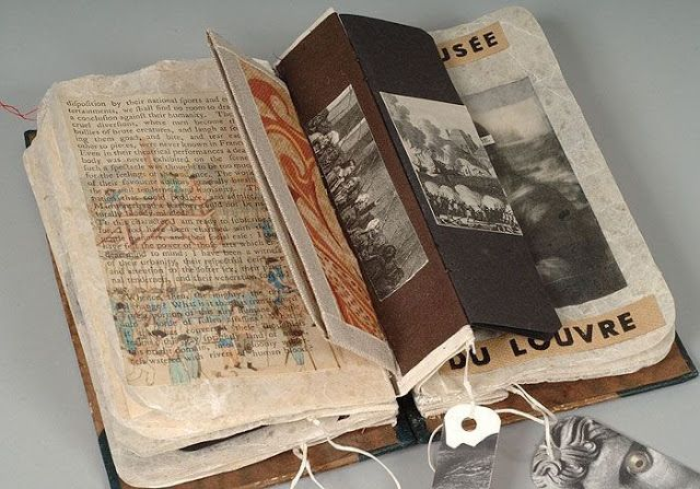 Altered book by Kyra Clegg for The Library of Lost Books | William Cobbett's A French Grammar #beyondthebook