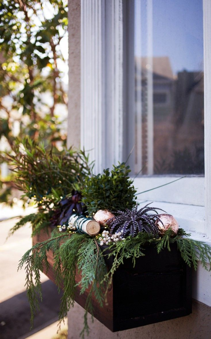 best windowboxes images on pinterest  window boxes gardening  - diy window boxes via remodelista