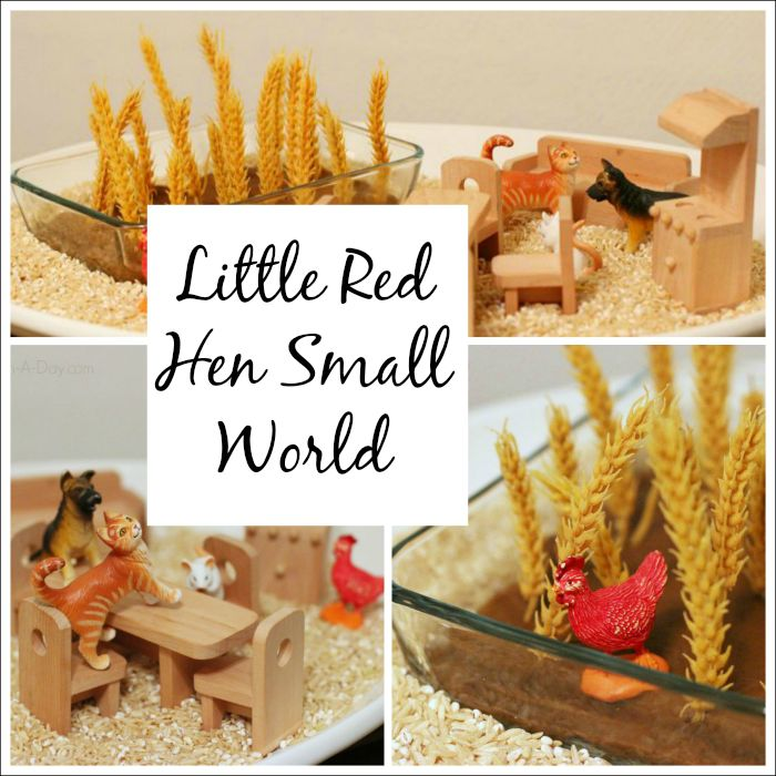 Little Red Hen small world play - retelling and sensory play in one