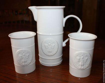 Винтажная посуда. Ярмарка Мастеров - ручная работа. Купить Фарфоровый набор для пива (других напитков), Германия. Handmade. Белый