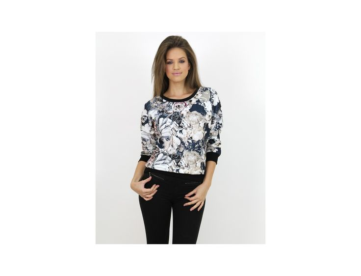 Pulover Modern cu Imprimeu Floral - Pulovere și Cardigane - Famevogue  #pulover #haine #imbracaminte #moda #style #sweater #jumper #trends