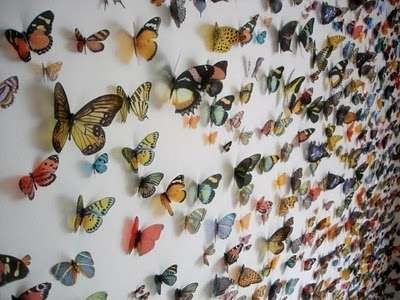 inspiration | butterfly installation