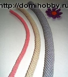 How to crochet a spiral ideal for handbags handles site is in russian but there is photos to help
