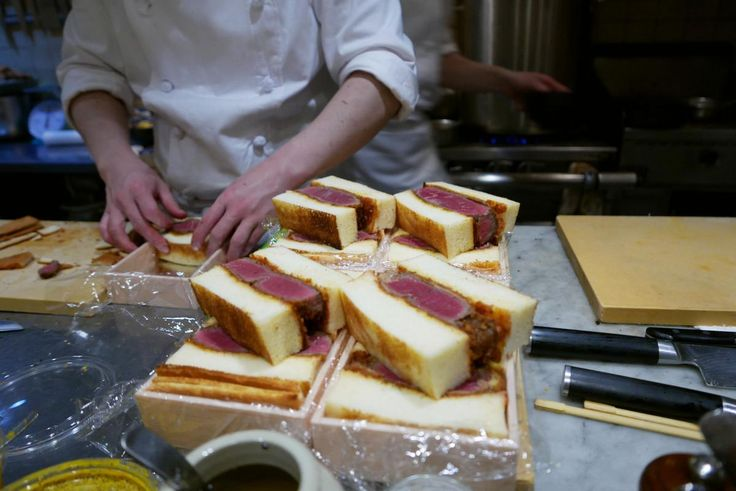 Wagyu Beef Sandwiches From Shima Steak Sandwich in Tokyo [1200 x 802]