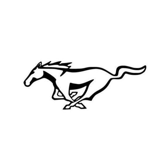 Horse Emblem Outline Vinyl Decal Window Mustang Sticker