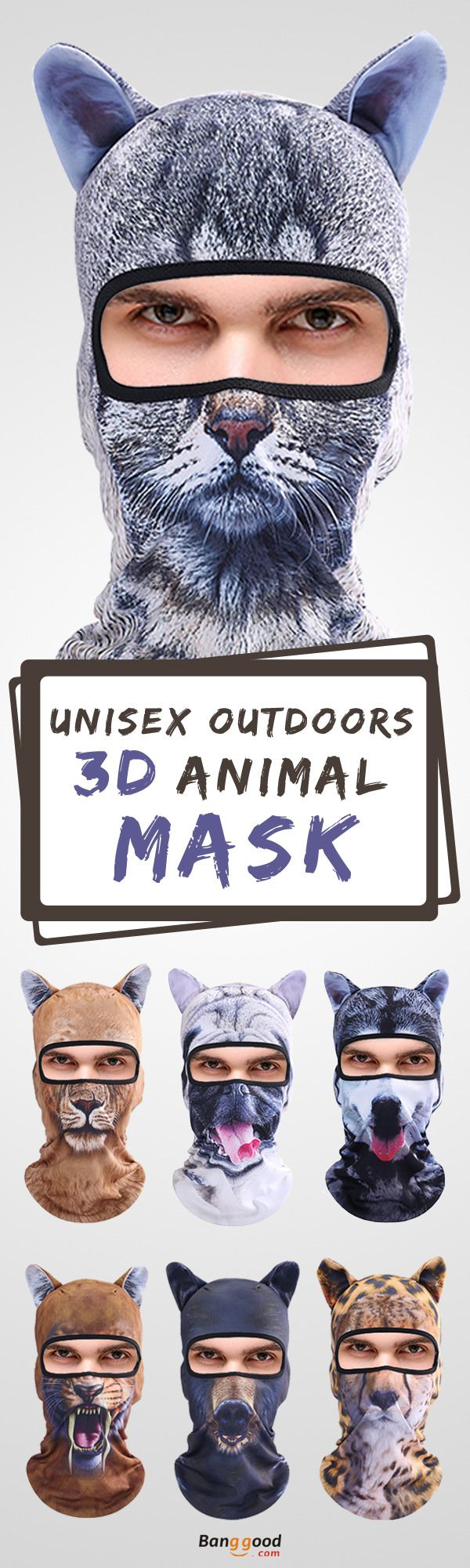 Free shipping&56%OFF! 3D Animal Mask. The coolest cap for a party! Unisex&Full Face, Event, holiday, party, Christmas, applicable to various occasions, shop now~