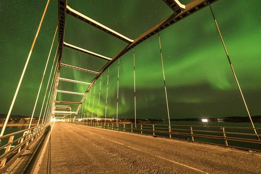 This is bridge from Finland to Sweden at Aavasaksa, Ylitornio.