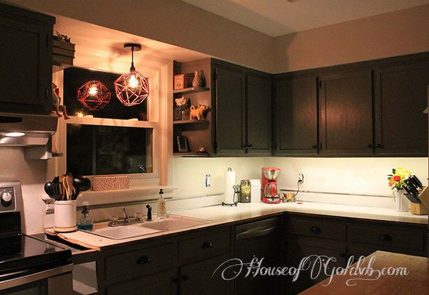 DIY under cabinet lighting - In this tutorial, they installed these in one evening, using this brand of lighting.