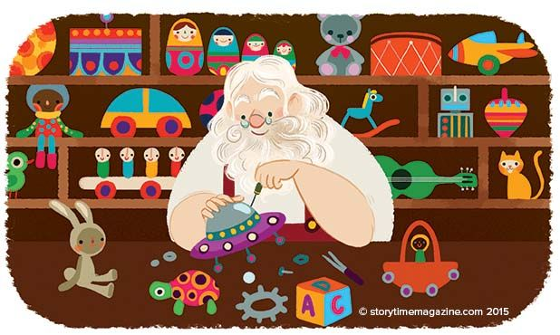 The most magical fellow of all –Santa Claus! Read his story in Storytime Issue 15! Illustration by Lorena Alvarez (http://www.lorenaalvarez.com) ~ STORYTIMEMAGAZINE.COM