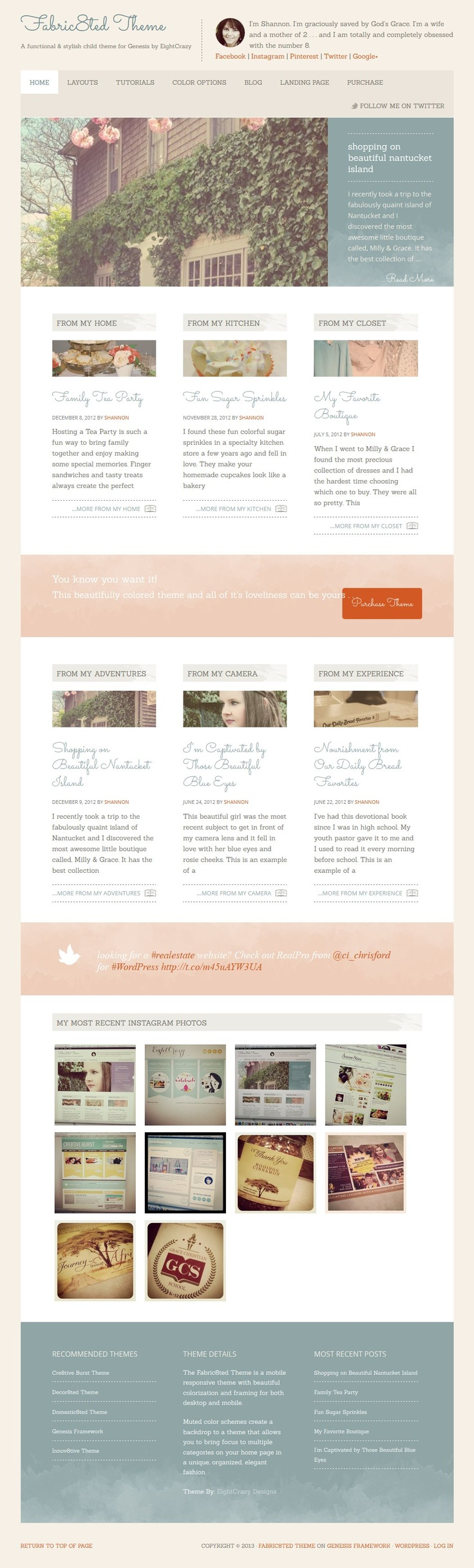Website soft colors - Studiopress Fabric8ted Is A Responsive Wordpress Theme Suitable For Blogging And Business Websites Fabric8ted Comes Soft Colorswordpress
