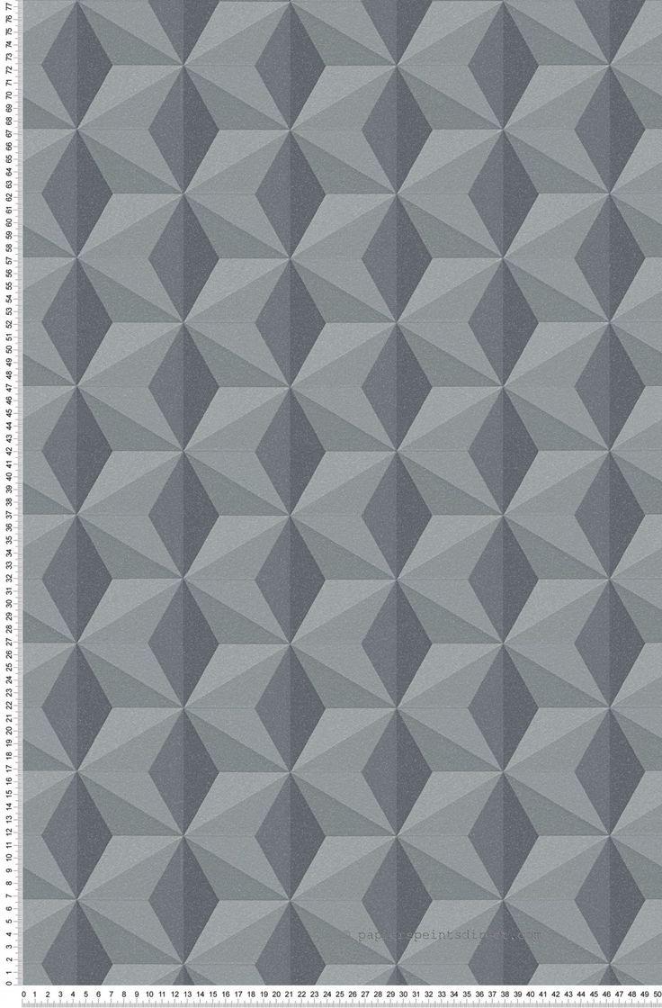 Motifs Géométriques Anthracite Noir   Life 3 Et Life 4 Du0027AS Création.  Tapeten DesignsBienenwabeSalonsZimmer TapeteMalerei SchlafzimmerInline