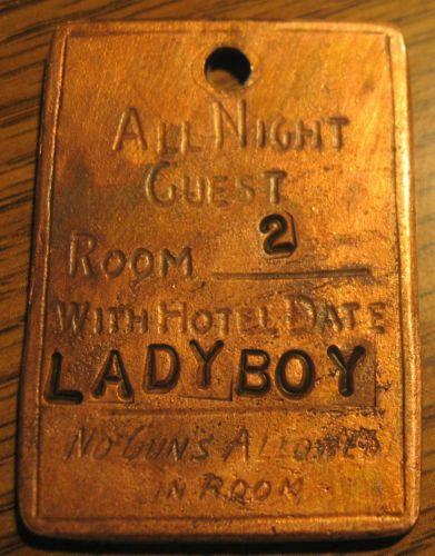 """Ladyboy"" 1882 Long Branch Dodge City Kansas Saloon Brothel Token | eBay"