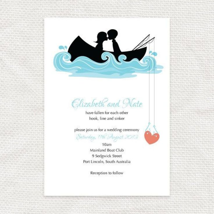 diy wedding invites south africa%0A In stead of we got hitched we can do   We Got Hooked   hooked on you  invitation  printable file  fishing row boat DIY wedding invitation   bridal or couples