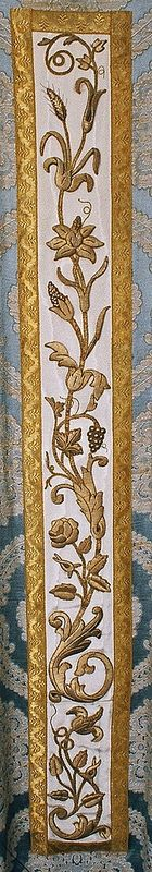 Embroidery on a vestment  Dutch  Producer unknown  Date: c. 1860-1880