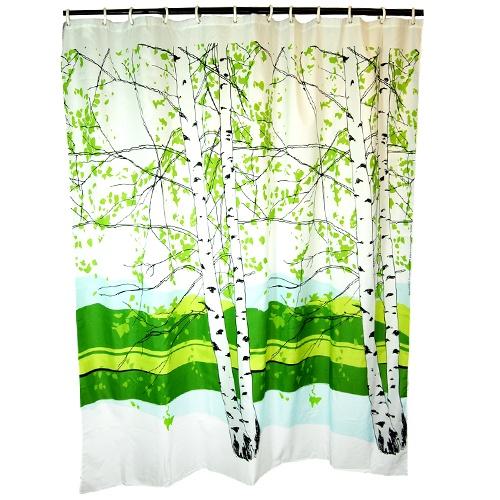 Great Marimekko Kaiku Shower Curtain | Marimekko Birch Trees Forest Shower Curtain  Design