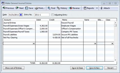 Using Quickbooks ZeroDollar Checks To Record Payroll Costs By Job