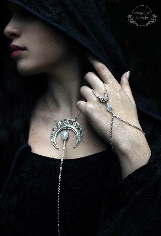 Moonshine Handchain by MidnightNymphs on Etsy
