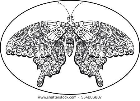 Decoration doodle butterfly