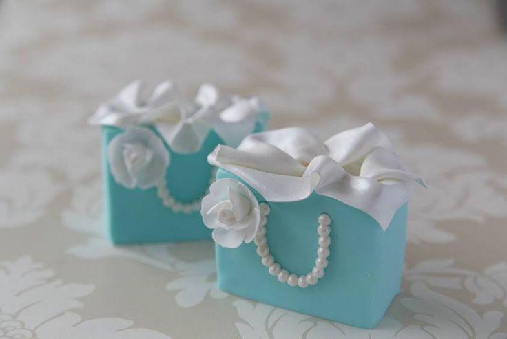 Tiffany Blue Bag Mini Cakes