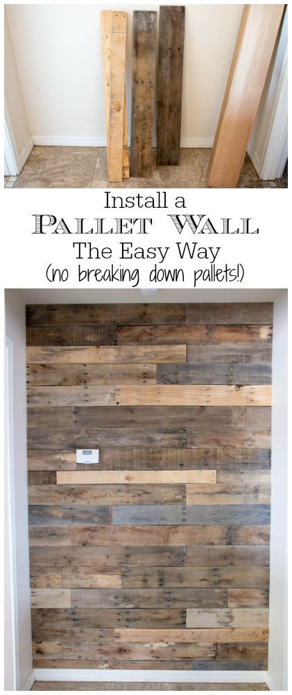 Skid Pallet Wall White Gray Kitchen